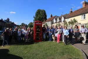 Official launch of telephone box Standon