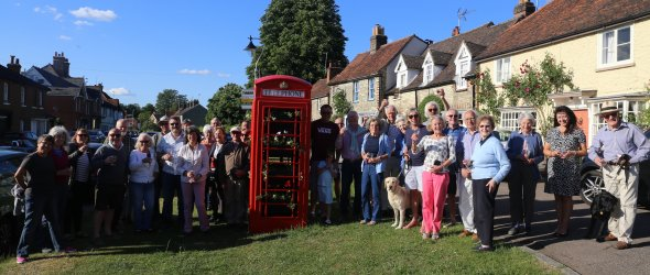Launch of telephone box 6th June 2019.